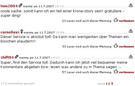 Krone Storyposting